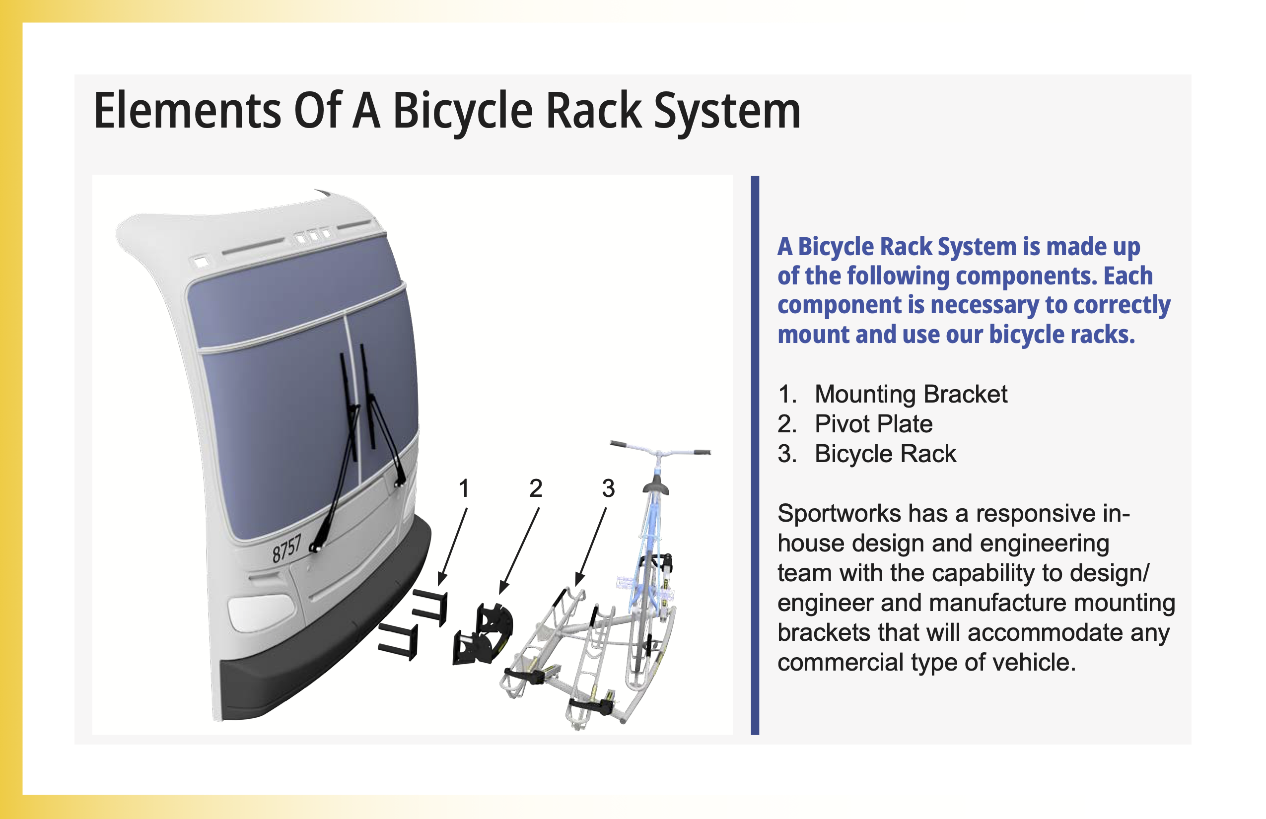 Elements Of A Bicycle Rack System