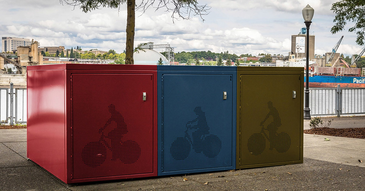 Bike Lockers On Water 3