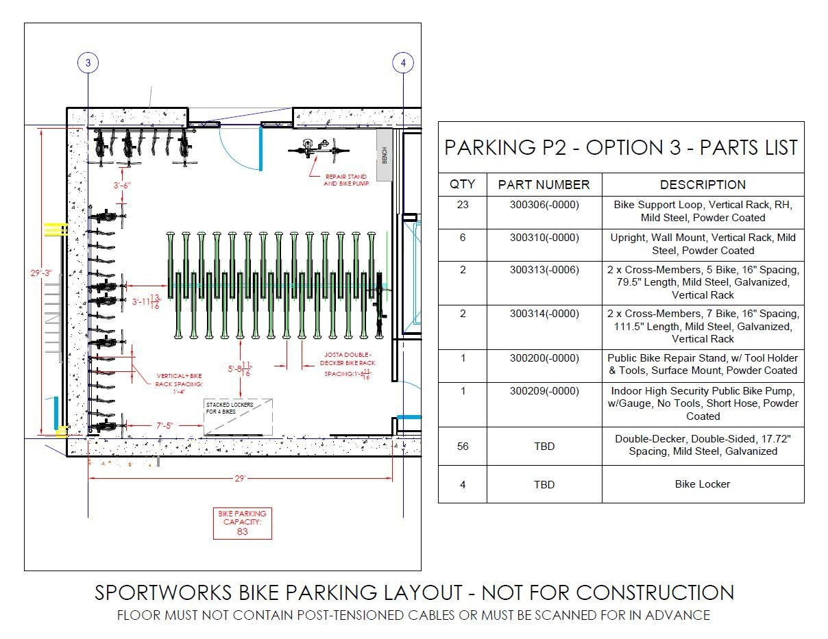 Sketch Floor Plans Bike Parking Planning What You Need To Know Sportworks