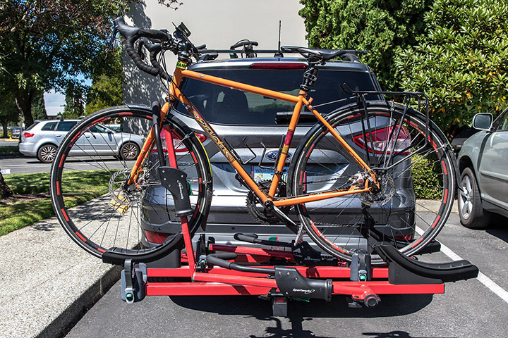 Sportworks Transport Bike Rack with Bike Loaded