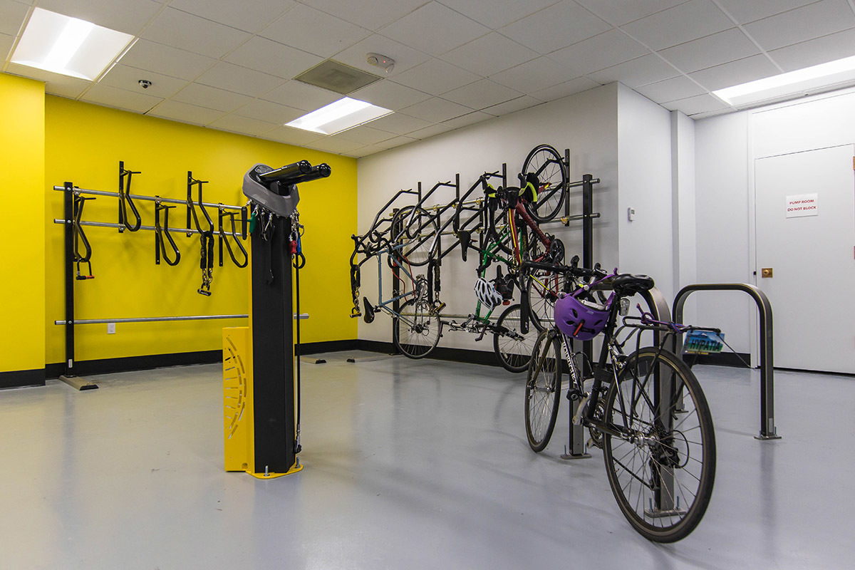Lake Union Black And Yellow Bike Room