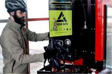 Green Guru Bicycle Tube Recycling Vending Machine